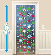 Snowflake Curtains Christmas Christmas Door Decorations U0026 Door Curtains Christmas Window