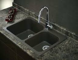 black granite composite sink granite composite sinks double bowl drop in black granite composite