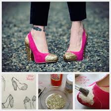Shoe Home Decor Diy Glitter Shoes By Trinkets In Bloom Project Jewelry Home