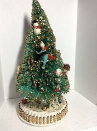 330 best vintage bottle brush trees u0026 wreathes images on pinterest
