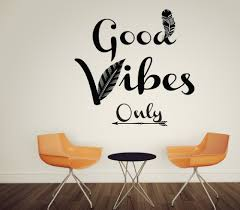 feather home decor aliexpress com buy good vibes only feather wall decals quotes