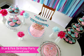 Diy 1st Birthday Centerpiece Ideas A Stylish Blue And Pink Birthday Party