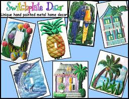 painted light switch covers hand painted metal switch plate covers in tropical designs metal