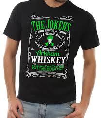 whiskey halloween costume the joker t shirt arkham whiskey black unisex shirt