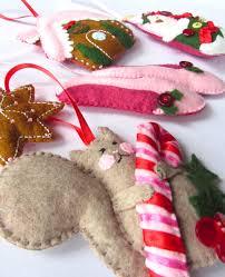 felt gingerbread house ornament imagine our