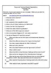 english worksheets ctso scavenger hunt