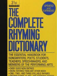 the complete rhyming dictionary includes cover metre poetry