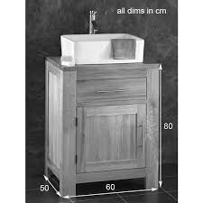 Alta Solid WENGE Oak Single Door Bathroom Basin Cabinet - Bathroom basin with cabinet