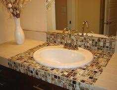 bathroom countertop tile ideas tiled bathroom countertops search home stuff