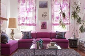 Fold Up Curtains Appealing Home Decor Ideas For Living Room Abstract Purple Fold Up