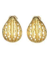 clip on earring lyst bittar jardin mystã re scarab beetle clip earring