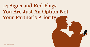 Red Flags In Dating A Guy 14 Signs And Red Flags You Are Just An Option And Not Your