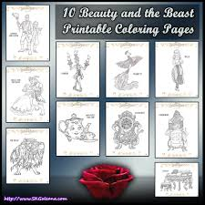 10 beauty and the beast printable coloring pages skgaleana