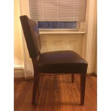 Pottery Barn Leather Dining Chair Room U0026 Board Brown Leather Dining Chairs Aptdeco