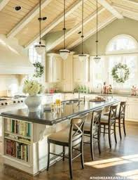 Kitchen Island With Bench Kitchen With Wooden Island Table Oversized Kitchen Islands Are