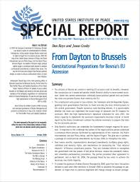 from dayton to brussels constitutional preparations for bosnia u0027s