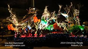 auburn ca dreams of festival of lights parade on