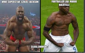 Balotelli Meme - wwe superstar ezikiel jackson footballer lad mario balotelli close