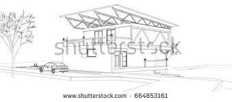 hand drawn cottage house sketch design stock vector 553727194