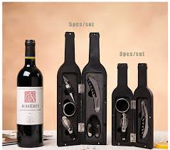 wine set gifts aliexpress buy wine bottle shaped gift set bottle opener