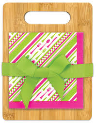 21 piece bon appetit cutting board with napkins gift set