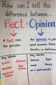 fact and opinion anchor chart 2nd grade i can really use this in