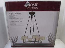 home decorators collection denholm 6 light chandelier in bronze