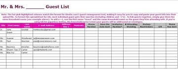 wedding itinerary template for guests 35 beautiful wedding guest list itinerary templates