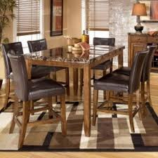Ashley Counter Height Table Foter - 7 piece dining room set counter height