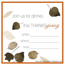 Thanksgiving Leaf Template Finding My Aloha 2011 U0027s Free Thanksgiving Invitations Printable