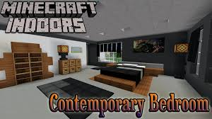 Minecraft Bathroom Designs Minecraft Indoors Interior Design Contemporary Bedroom Youtube