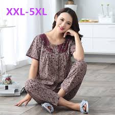 elderly nightgowns aliexpress buy cotton sleeve pyjamas trousers women s