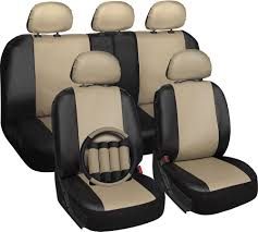 nissan altima leather seat covers faux leather car seat covers tan u0026 black 17pc set w steering wheel