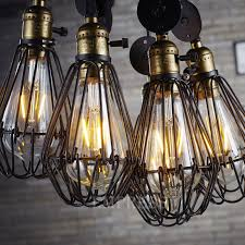 birdcage lights iron wire lamp cage retro lampshade vintage