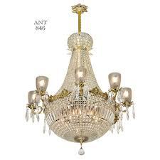 Vintage Crystal Chandelier For Sale Vintage Crystal Chandelier Large Ballroom Prism Ceiling Light