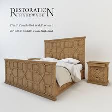 Restoration Hardware Nightstands Restoration Hardware 17th C Castello Bed With Footboard 3d Model