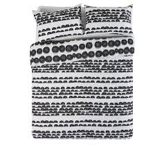 buy home bobble black and white bedding set double at argos co