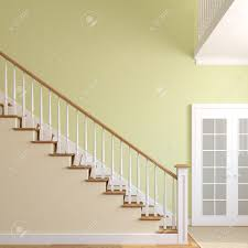 stairway in the modern house 3d render stock photo picture and
