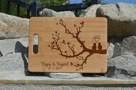 cutting board wedding gift tree personalized cutting board wedding gift laser engraved