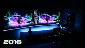 Ultimate Gamer Setup Ultimate Clean Gaming Setup 2016 Evolution Dual Monitors Gaming