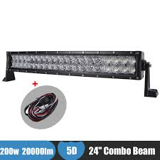 24 inch led light bar offroad 200w 24 curved offroad led light bar 5d combo beam headlight for