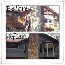 our cedar siding house with fresh paint sherwin williams