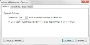 excel date format to mysql mysql mysql for excel guide 5 2 import advanced options