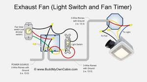 How To Install Bathroom Light Bathroom Electrical Exhaust Fan Wiring Diagram With Timer