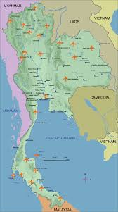 Airport Map Thailand Airports Map