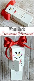 diy snowman wood block ornaments tutorial darice