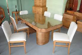 art deco epstein dining table and 6 chairs cloud 9 art deco