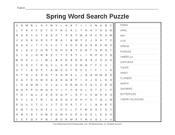 spring worksheets spring word search puzzle primarygames play