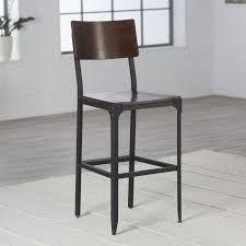 industrial counter stools with back metal stools industrial
