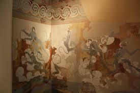 monkey fresco akrotiri illustration ancient history encyclopedia